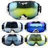 Ski Double Lens UV Anti-Fog UV400 Goggles Snowmobile Snow Sunglasses Aldults