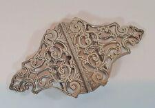 Pesado de estilo Art Nouveau acanto HM Enfermera De Plata Hebilla de cinturón 1996 58 Gr