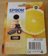 GENUINE EPSON 33XL Black cartridge ORIGINAL T3351 ORANGES ink boxed & dated 2021