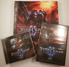 """STARCRAFT II """"WINGS OF LIBERTY"""" sealed DVD, Soundtrack, """"The Art of"""" Book MINT"""