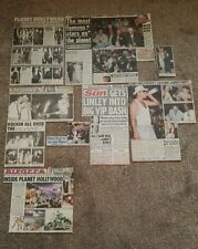 Planet Hollywood newspaper cuttings from opening in London