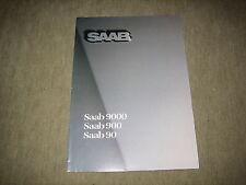 Saab 90 900 9000 Falt Prospekt Brochure von 1985, 16 Seiten