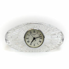 Waterford Crystal Table Clock, Signed,  Hand Cut & Polished Crystal & Textured
