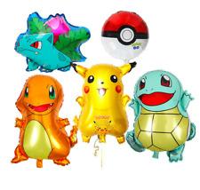 5pcs Pokemon Pikachu Birthday Party Foil Balloons Cartoon Go Home Decoration