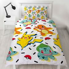 Offiziell Pokemon Memphis Einzel Bettwäsche & Kissenbezug Multi Jungen Mädchen