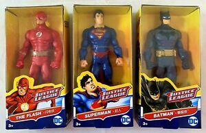 DC Justice League Figurines Batman, Superman, The Flash