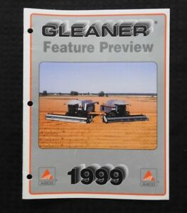 """1999 AGCO GLEANER R42 R52 R62 R72 COMBINE """"FEATURE PREVIEW"""" SALES BROCHURE CLEAN"""