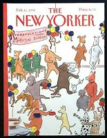 1991 Dog Show After-Party Dance art Feb 11 New Yorker Magazine COVER ONLY