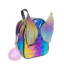 Blue Banana Fairy Butterfly Angel Wings Rainbow Small Backpack/Girls Rucksack