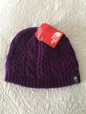 The North Face Cable Minna Beanie Gravity Purple Hat One Size  NWT
