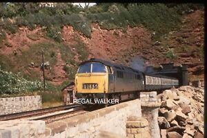 35MM SLIDE BRITISH RAIL RAILWAYS CLASS 52 D1049 WESTERN MONARCH DAWLISH AUG 1972
