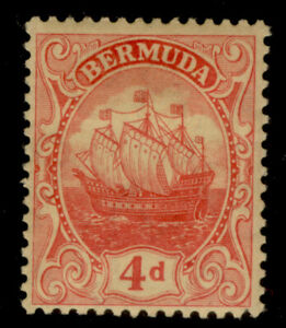 BERMUDA GV SG49a, 4d red/yellow, M MINT. Cat £14.