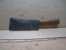 """Vintage Butcher Meat Cleaver - Village Blacksmith Solid Steel Forged - 15"""" Long"""
