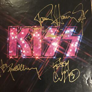Kiss Alive Insert Booklet Autographed By Simmons Stanley Frehley Criss