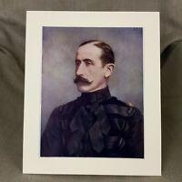 1900 Antico Militare Ritratto Stampa Major Rimington British Cavalry Ufficiale