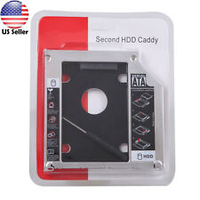 9.5mm Universal SATA 2nd HDD SSD Hard Drive Caddy for CD/DVD-ROM Optical Bay US