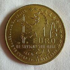 PIECE 1 EURO COMMEMORATION MARCHE DAVOUT SAVIGNY SUR ORGE - 2 pièces identiques