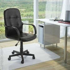 Bürodrehstuhl Drehstuhl mit Armlehnen höhenverstellbar Kunstleder Chefsessel
