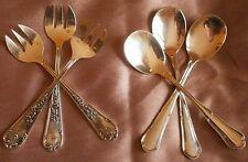 Félix Frères 6 pièces métal argenté 3 Fourchettes huîtres & 3 cuillères glace