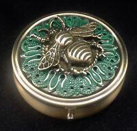 Bumblebee Pill Box, Pill Boxes,Travel Pill Case, Honeybee pill case, Bee pilcase