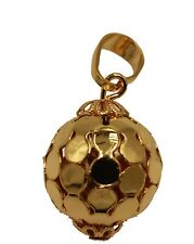 Ball Rattle Charm 17mm with 20 inch Chain - Rattle  Ball Charm  Necklace