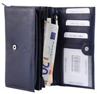 Akzent Damen Geldbörse Echt-Leder 17 x 10 cm Blau Portemonnaie X3000317002