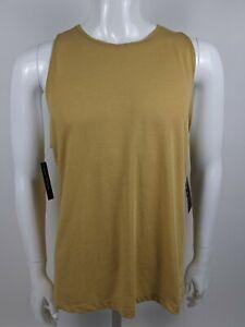 Nike Dry Yoga Tank Studio Open Back Mustard Yellow Women's Size XL NWT