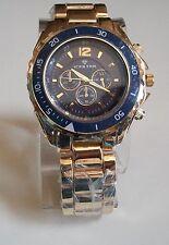 Designer chrono Techo Meter style ICE STAR  Bracelet Gold Finish  fashion watch
