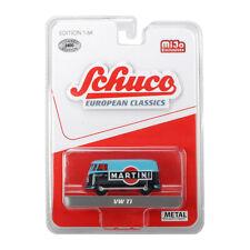 """Schuco 452018300 VW T1 Bus """"Martini"""" hellblau/schwarz Maßstab 1:64 NEU!°"""