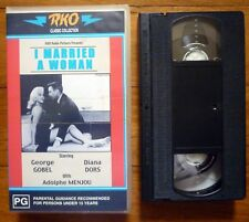 I MARRIED A WOMAN PAL VHS Video RKO Classics Diana Dors & George Gobel