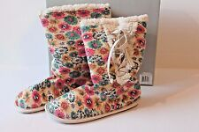 Women's Size 6.5 Rocket Dog Unleashed Natural Floral Boot Slippers Shoes NEW