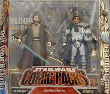 Star Wars 30th Republic Comic 2-Pack Obi-Wan Kenobi Blue Arc Trooper Alpha MOC