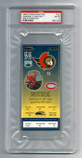 PSA 10 1996 PATRICK ROY UNUSED TICKET for the Canadiens at the Senators