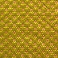 Lee Jofa Italian Silk Cotton Gold Flowers on Green Chartreuse Upholst.  Fabric