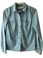 Madewell Blue A2676 Long Sleeve Button Front Top Shirt Blouse Shirt XS/S