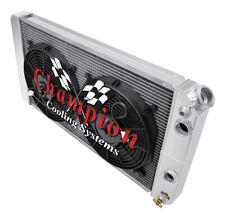 "3 Row Perf Champion Radiator,12"" Fans,1 1/4,1 1/2-1996-2005 Chevy Blazer LS Swap"