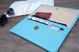 Deluxe Tuscana Leather Travel Organiser Documents Passport Money Tickets Uk Made