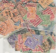 GB KG5 PERFINS PROFILE HEAD 100 DIFFERENT MIXED VALUES 1912-33