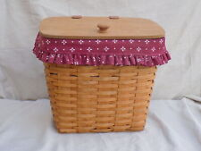 Large Mail Basket w/ Paprika Liner & Plastic Protector 1993 Longaberger