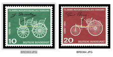 EBS Germany 1961 75 Years Automobiles - Daimler & Benz Michel 363-364 MNH**