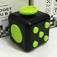 Magic Fidget Hand Finger Spinner Puzzle Cube Anti-anxiety Adults Stress # GREEN