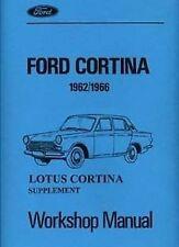 Ford Lotus Cortina Tech. Spec 1962-1966 libro catálogo de datos técnicos Manual