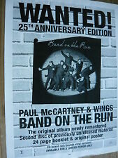 PAUL MCCARTNEY & WINGS - MAGAZINE CUTTING (FULL PAGE ADVERT) (REF WD)