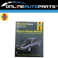 Haynes Car Repair Manual Book Mitsubishi Magna TM TN TP 1985-1992 Sedan + Wagon