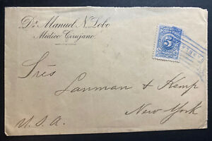 1905 Colombia Vintage Cover To New York USA