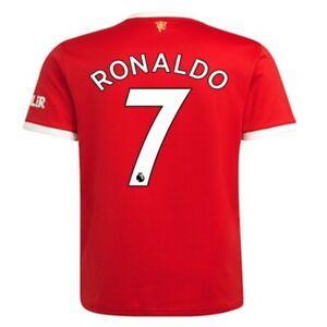 CRISTIANO RONALDO 7 Manchester United Soccer 21-22 Men Football Fan new Jersey
