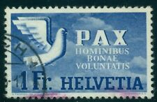 SWITZERLAND #301 1fr Dove of Peace, used, VF, Scott $95.00
