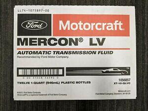GENUINE OEM MOTORCRAFT MERCON LV Automatic Transmission Fluid 12-QT (XT-10-QLVC)