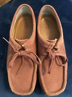 VGUC Rare Vintage Clarks Original Wallabee Rose Pink Leather Size 9.5 9 1/2