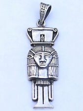 Tyet, Hathor, Pr Osiris .925 Silver Pendant (Hallmarked)(Small)